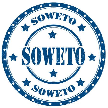 Grunge rubber stamp with text Soweto,vector illustration
