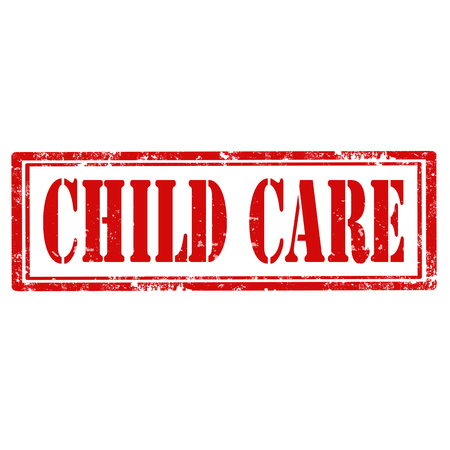 child care: Grunge rubber stamp with text Child Care