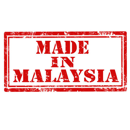 Grunge rubber stamp with text Made In Malaysia Vector