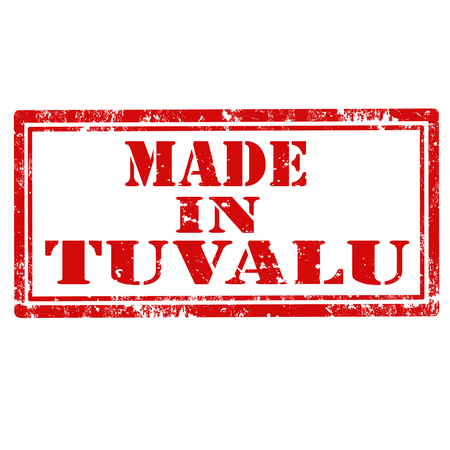 tuvalu: Grunge rubber stamp with text Made In Tuvalu