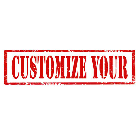 customize: Grunge rubber stamp with text Customize Your