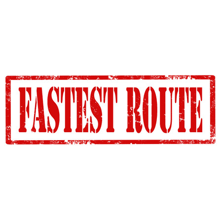 fastest: Grunge rubber stamp with text Fastest Route,vector illustration Illustration