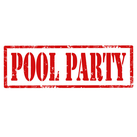 pool party: Grunge rubber stamp with text Pool Party,vector illustration