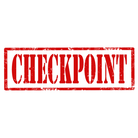 checkpoint: Grunge rubber stamp with text Checkpoint Illustration