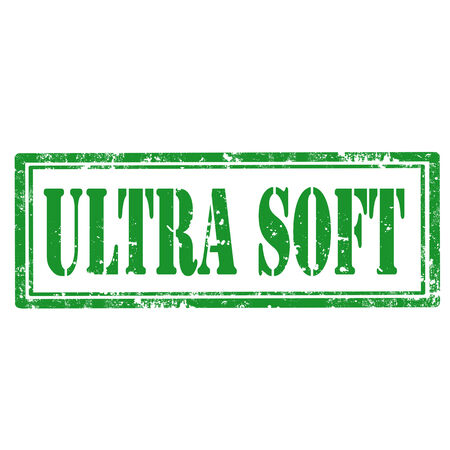 ultra: Grunge rubber stamp with text Ultra Soft