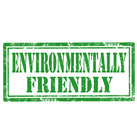 environmentally: Grunge rubber stamp with text Environmentally Friendly,vector illustration
