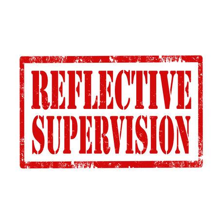 supervisi�n: Grunge sello de goma con el texto reflexivo Supervisi�n, ilustraci�n vectorial