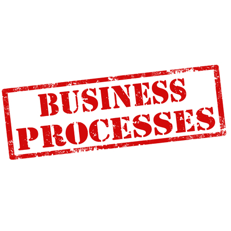 businees: Grunge rubber stamp with text Business Processes Illustration
