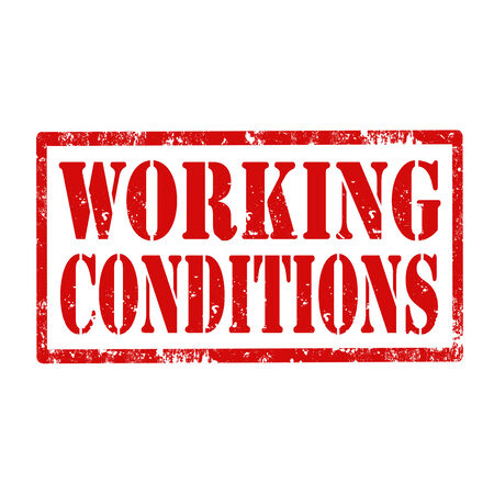 financial condition: Grunge rubber stamp with text Working Conditions,vector illustration Illustration