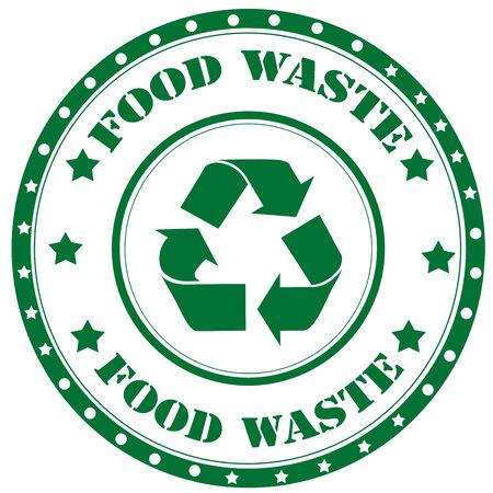 Rubber stamp with text Food Waste,vector illustration Vektorové ilustrace