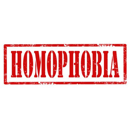 homophobia: Grunge rubber stamp with text Homophobia,vector illustration Illustration
