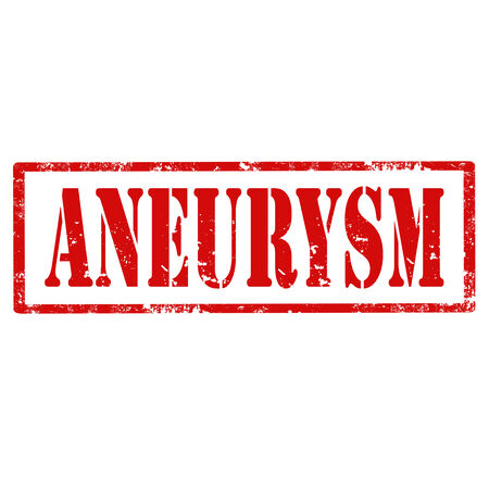 aneurysm: Grunge rubber stamp with text Aneurysm,vector illustration Illustration