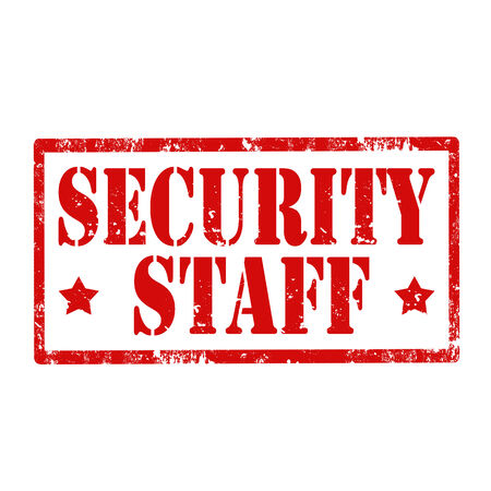 security staff: Grunge rubber stamp with text Security Staff,vector illustration