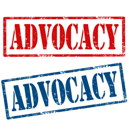 advocacy: Set of grunge rubber stamps with text Advocacy,vector illustration