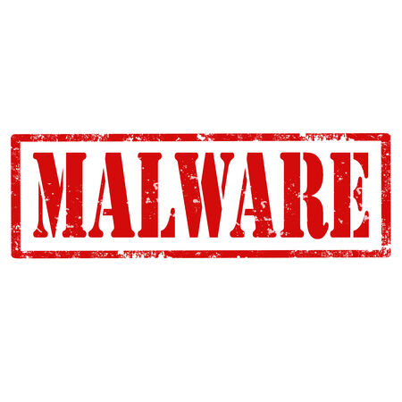 insecure: Grunge rubber stamp with text Malware,vector illustration
