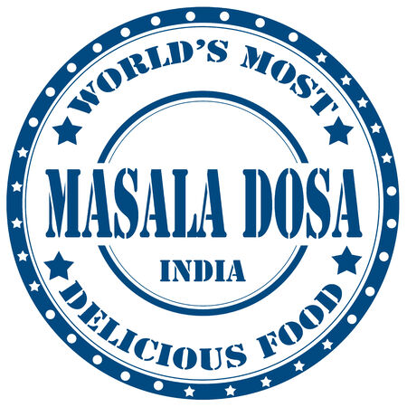 Rubber stamp with text Masala Dosa(indian dish),vector illustration