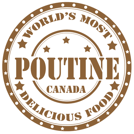 Rubber stamp with text Poutine(canadian dish),vector illustration Vector