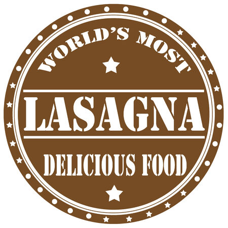lasagna: Label with text Lasagna