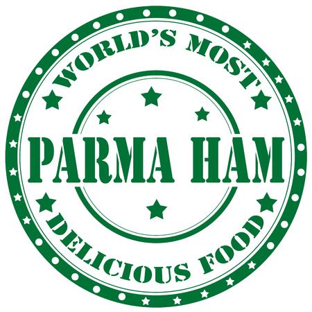 parma ham: Rubber stamp with text Parma Ham