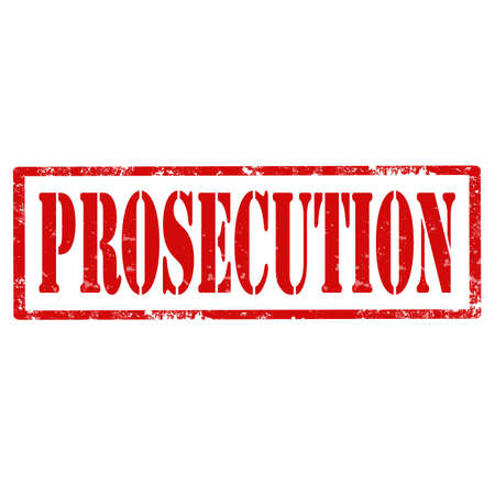 prosecution: Grunge rubber stamp with text Prosecution