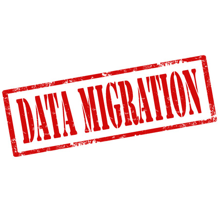migration: Grunge rubber stamp with text Data Migration,vector illustration