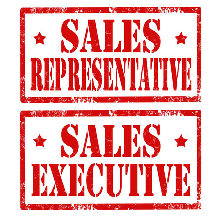 sales executive: Grunge rubber stamps with text Sales Representative and Sales Executive,vector illustration