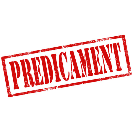 predicament: Grunge rubber stamp with text Predicament,vector illustration Illustration