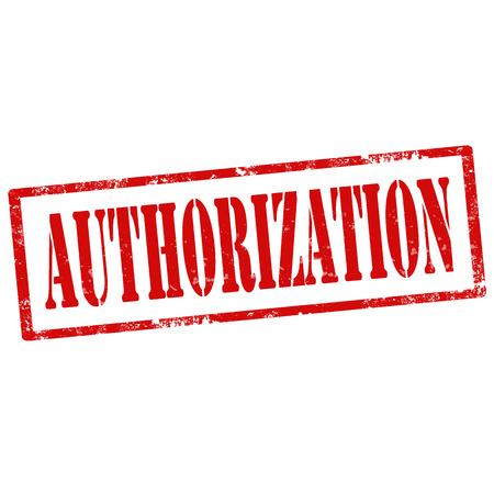 autorizacion: Grunge sello de goma con la Autorizaci�n de texto, ilustraci�n vectorial