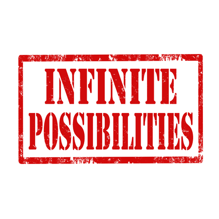 possibilities: Grunge rubber stamp with text Infinite Possibilities,vector illustration