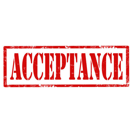 acceptance: Grunge rubber stamp with text Acceptance,vector illustration