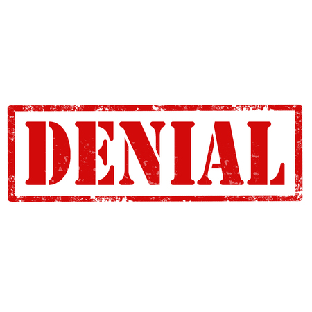 denial: Grunge rubber stamp with text Denial,vector illustration