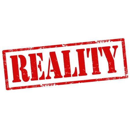 deed: Grunge sello de goma con la Realidad texto, ilustraci�n vectorial