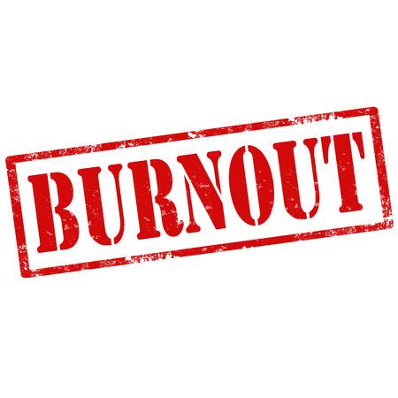 burnout: Grunge rubber stamp with text Burnout,vector illustration