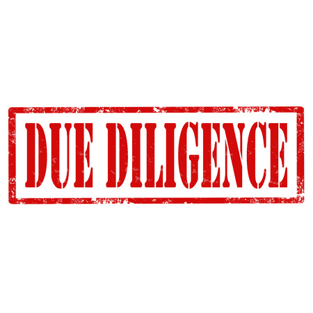 diligence: Grunge rubber stamp with text Due Diligence,vector illustration