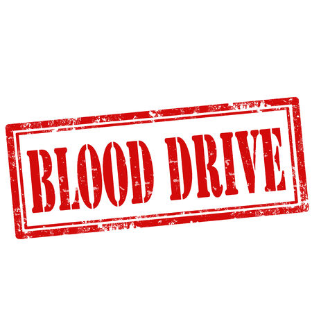 charity drive: Grunge rubber stamp with text Blood Drive,vector illustration