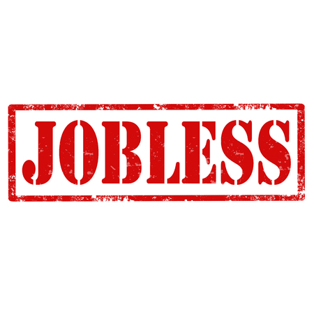 jobless: Grunge rubber stamp with text Jobless,vector illustration