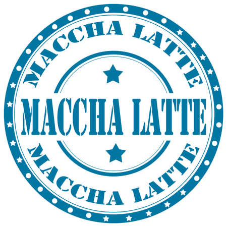 maccha: Rubber stamp with text Maccha Latte,vector illustration Illustration