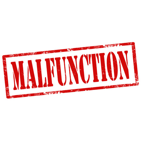 malfunction: Grunge rubber stamp with text Malfunction,vector illustration Illustration