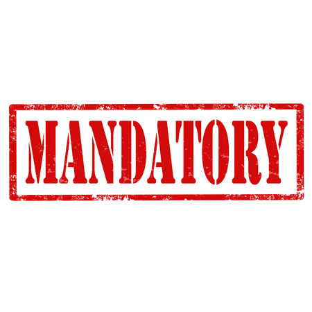 compulsory: Grunge rubber stamp with text Mandatory,vector illustration