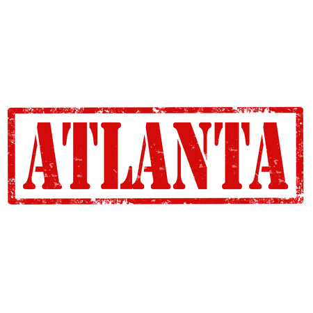 atlanta: Grunge rubber stamp with text Atlanta,vector illustration