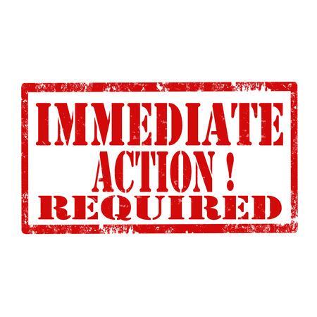 グランジ テキスト即時アクション必要なベクトル図ゴム印  イラスト・ベクター素材