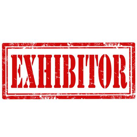 Grunge sello de goma con el Expositor texto, ilustración vectorial