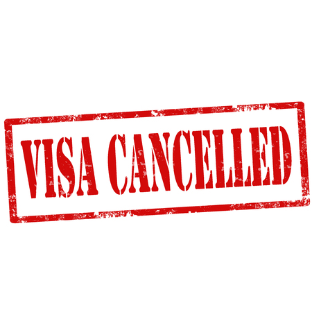 Grunge rubber stamp with text Visa Cancelled,vector illustration Illustration