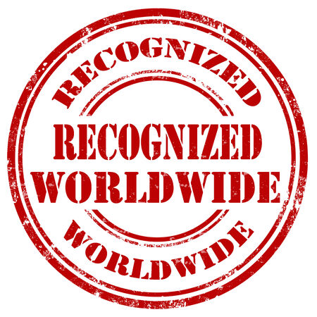 recognize: Grunge rubber stamp with text Recognize Worldwide,vector illustration Illustration