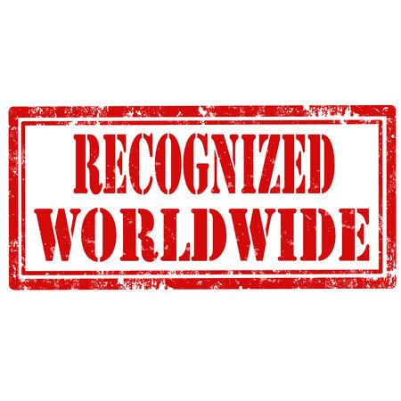 wiedererkennen: Grunge Stempel mit dem Text erkennen Worldwide, Vektor-Illustration Illustration