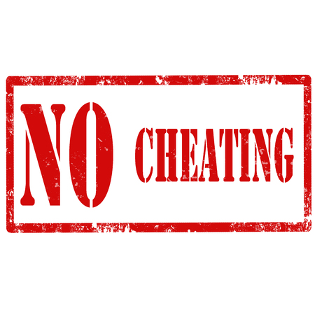cheater: Grunge rubber stamp with text No Cheating,vector illustration