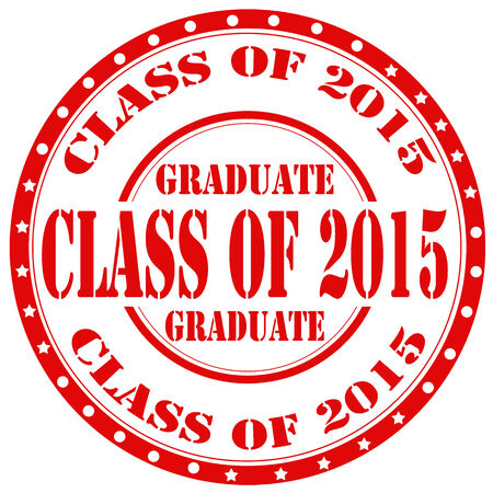 Grunge rubber stamp with text Class Of 2015,vector illustration