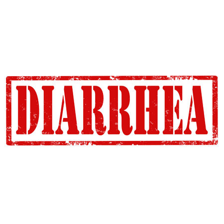 diarrhea: Grunge rubber stamp with text Diarrhea,vector illustration