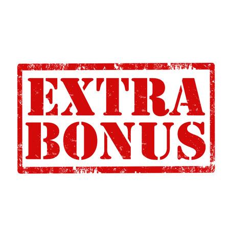Grunge rubber stamp with text Extra Bonus,vector illustration Reklamní fotografie - 28385751