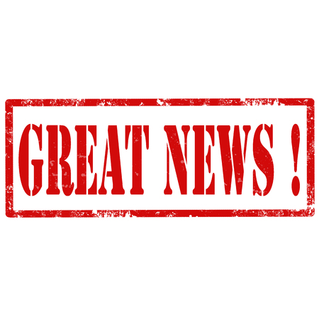 reportage: Grunge rubber stamp with text Great News,vector illustration